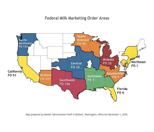 Map of all Federal Orders