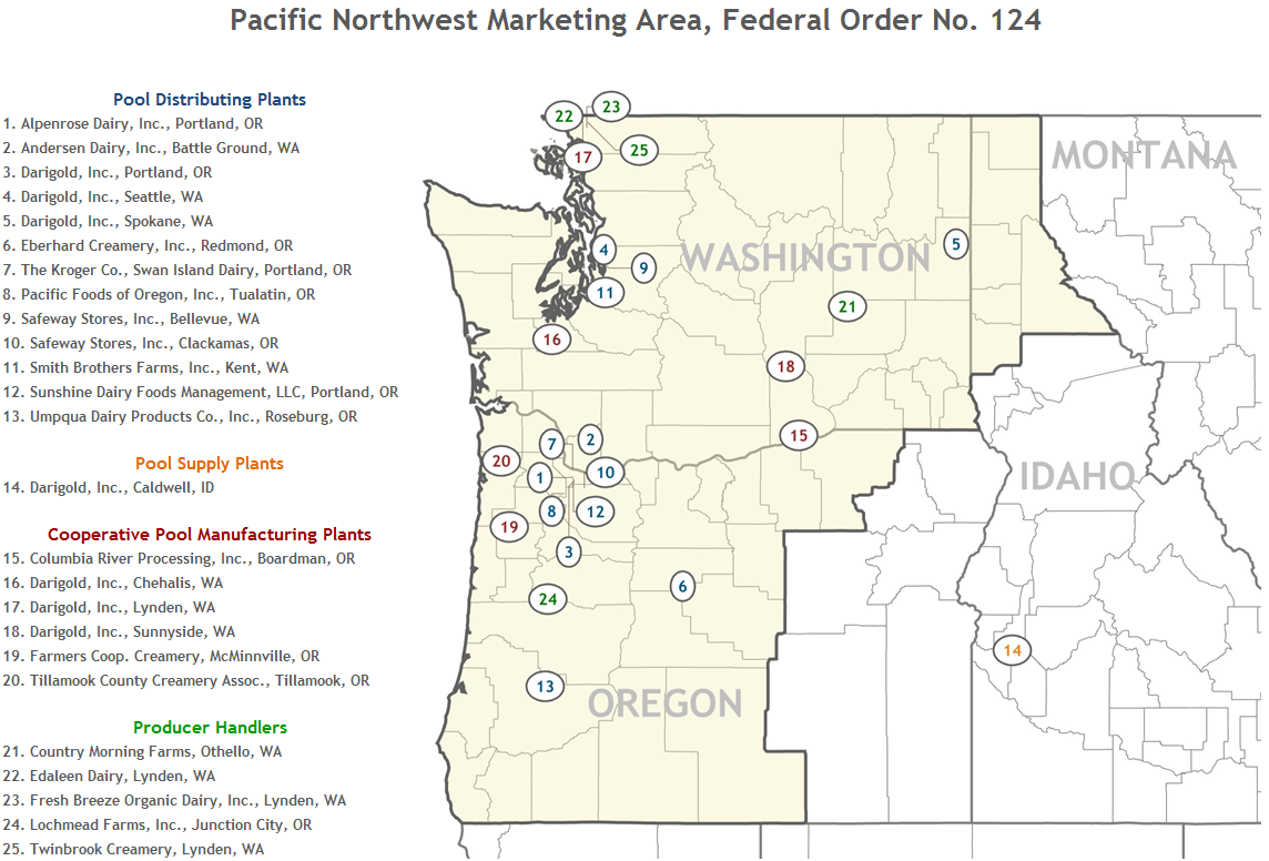 Pacific Northwest Plant Locations